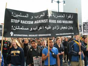 Protesting the racist occupation of Iraq