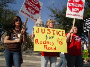 Death penalty opponents demand justice for Rodney Reed, on death row in Texas