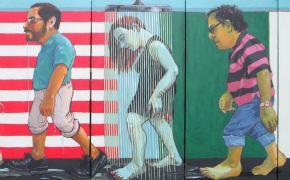 """Detail from """"Sueños Humedos/Wet Dreams,"""" by Juan Carlos Macías"""