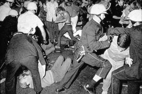 Police Attack Protesters Outside Of The 1968 Democratic National Convention