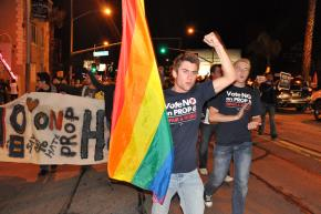 Demonstrations called after the Prop 8 same-sex marriage ban passed took to the streets