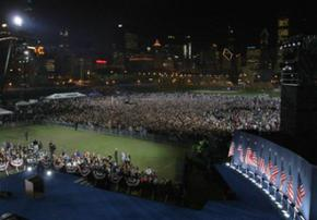 An immense crowd turned out to the Grant Park rally for Barack Obama