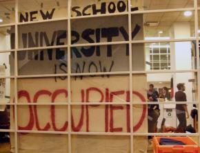 Students occupied a building at the New School to demand greater democracy