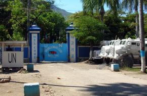 A base for the MINUSTAH troops in Cap-Haitien