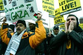Some 20,000 people marched in Washington, D.C., for a rally in support of Gaza