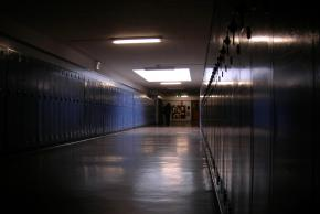 A hallway at the Eckstein Middle School in Seattle