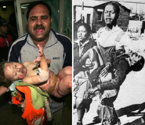 Victims of repression in South Africa and Palestine