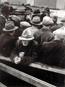 A bread line in San Francisco during the Great Depression