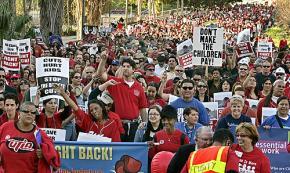 UTLA members march against budget cuts