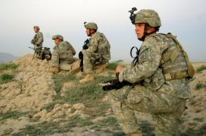 U.S. soldiers during an operation in Pana, Afghanistan