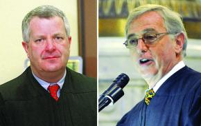 Michael Conahan (left) and Mark Ciavarella (right)