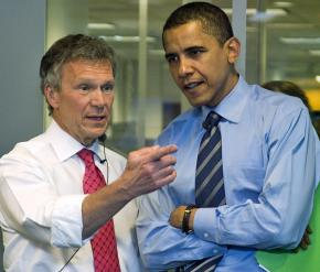 Tom Daschle and Barack Obama