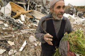 Ahmed Hussein's chicken farm in the Jabalya refugee camp was demolished by an Israeli air strike
