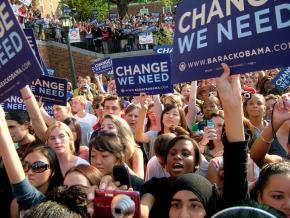 Women for Obama rally in Charlottesville, VA