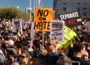 Tens of thousands of people have protested against Proposition 8