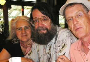 Franklin Rosemont (center) with Penelope Rosemont and Paul Buhle