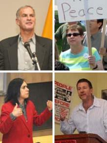 Clockwise from top right: Norman Finkelstein, Loretta Capeheart, William Robinson and Margo Ramlal-Nankoe