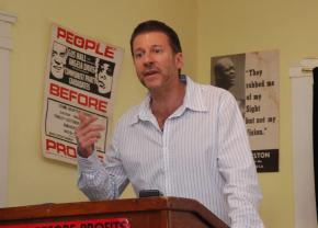 Professor William Robinson speaks in Los Angeles on the fifth anniversary of the failed 2002 coup against Venezuela's Hugo Chávez