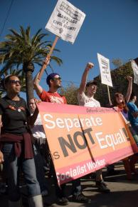 Protesting Proposition 8 after it passed last November
