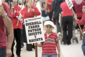 On the picket line at Overhill Farms