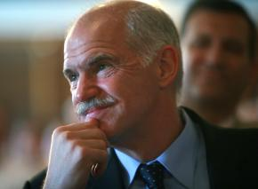 Greece's new Prime Minister Georgios Papandreou