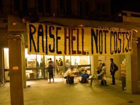 Student occupied Kerr Hall at the University of California Santa Cruz