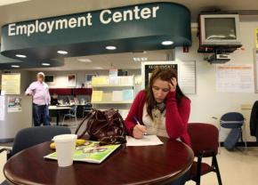 Unemployment has continued to worsen despite signs of a recovery for Wall Street