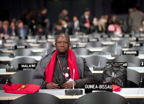 An African delegate at the United Nations climate summit in Copenhagen