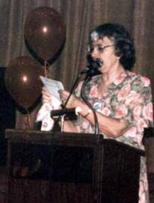 Vicky Starr at an annual Debs-Thomas-Harrington dinner in 1992