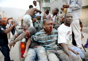 Victims of the earthquake in Port-au-Prince