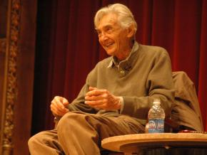 Howard Zinn onstage at the 2009 Campaign to End the Death Penalty convention