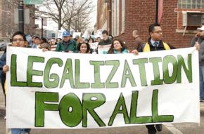 Coming Out of the Shadows march for undocumented youth in Chicago
