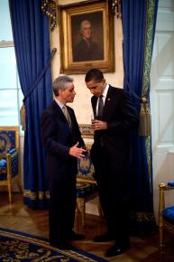 President Obama with White House Chief of Staff Rahm Emanuel