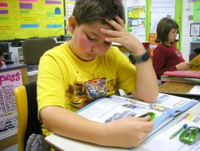 Reading in a Georgia classroom