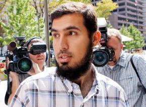 Najibullah Zazi arrives at FBI offices for questioning in September 2009