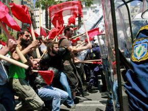 May Day protests against austerity measures in Athens, Greece