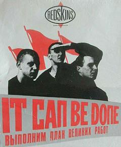 "The Redskins' single ""It Can Be Done"""