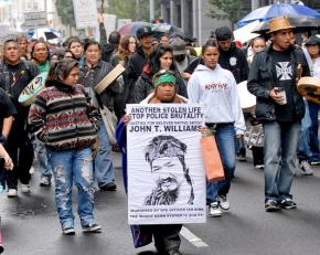 Marching to Seattle City Hall to demand justice for John Williams