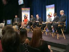 A panel discussion during NBC's Education Nation summit