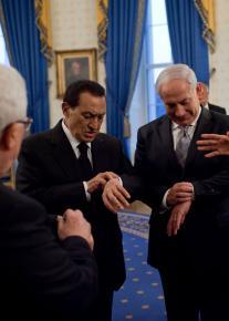 Egyptian President Hosni Mubarak and Israeli Prime Minister Benjamin Netanyahu