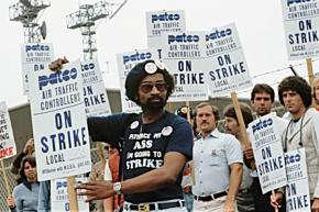 PATCO workers on the picket line