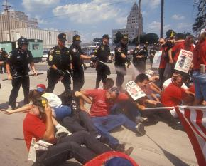 Locked-out Staley workers and their supporters get pepper-sprayed by police