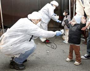 Checking for signs of radiation among children evacuated from near the Fukushima Daini nuclear power plant