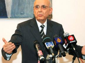 Former Tunisian Prime Minister Mohammed Ghannouchi announces his resignation
