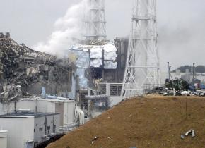 One of the damaged reactors at the Fukishima-Daiichi nuclear power plant