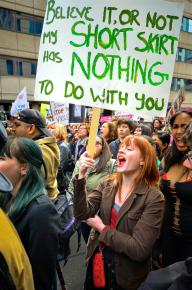 Marching against sexist victim-blaming in Toronto