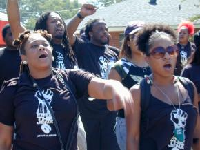 A mass march on Jena, La., demanding justice for the Jena 6