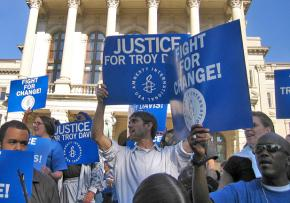 Protesters call for justice for Troy Davis