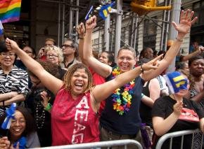 New York celebrates the legalization of same-sex marriage during Pride weekend