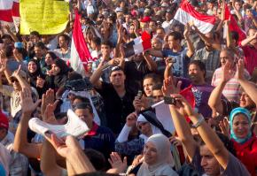 Egyptians fill Tahrir Square July 8 in protest against the military's threats against protesters